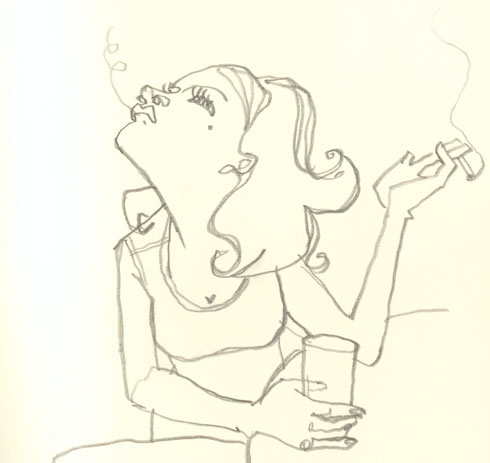 Illustration - Fumeuse