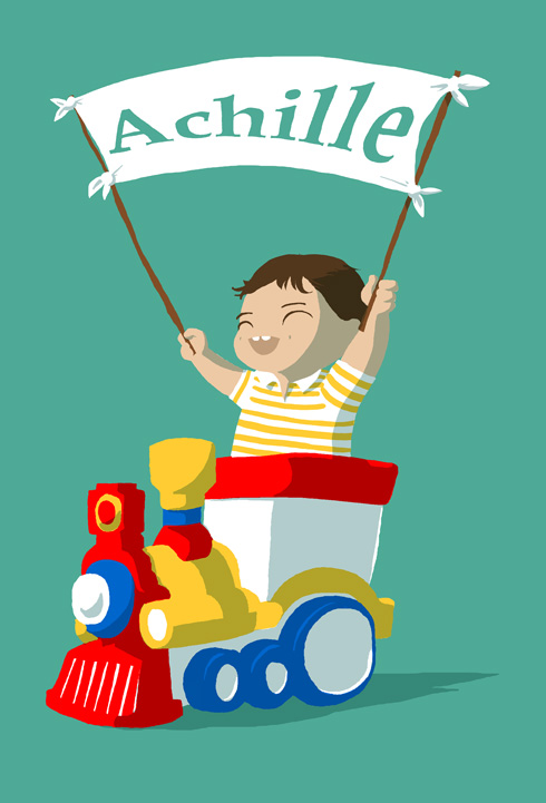 Illustration - Achille et la locomotive