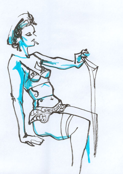 Dr. Sketchy Anti Art School Paris libéré - Croquis 4