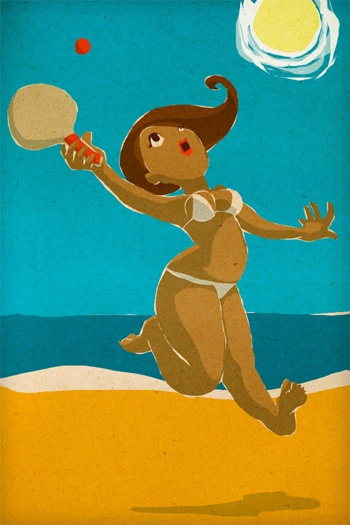 Illustration - Raquettes de plage